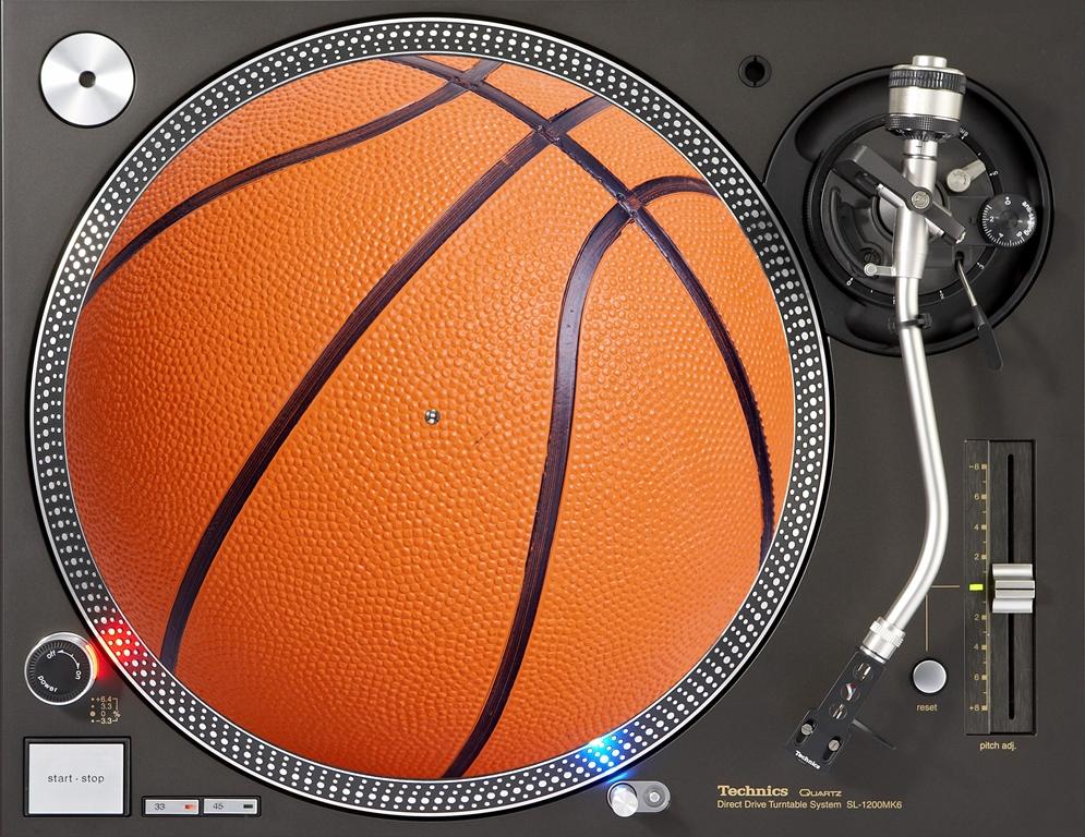 слипмат с рисунком баскетбольного мяча